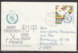 R.D.A.   Jahr Des Friedens 1986    Entier Postal - [6] Democratic Republic