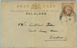 BK0313 - South Africa ZULULAND - POSTAL HISTORY - STATIONERY CARD From CAPE Of GOOD HOPE 1898 - Zoulouland (1888-1902)
