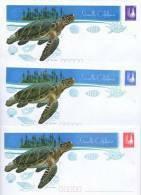 NEW CALEDONIA, 3 PSES, MINT, TURTLES, SHELLS,KAGOU BIRD - Turtles