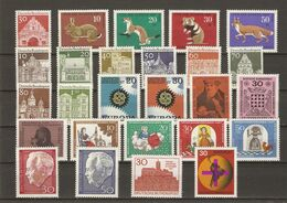 Allemagne Fédérale 1967 - Année Complète MNH - 386/410 - Avec Série Courante - Briefmarken