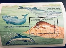 GRENADE - 1 Bloc Neuf MNH - Marine Life Pesce Poisson Fish Pez Fische Tropical Fish Of Grenada MNH - Fishes