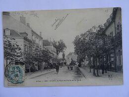CPA 03   VICHY Rue De Paris Et La Gare Animations 1906 TBE - Vichy