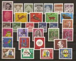 Allemagne Fédérale 1966 - Année Complète MNH - 356/85 - Avec Série Courante - Briefmarken