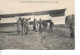 ARRACOURT - Un Aéroplane Allemand Attérit - Autres Communes