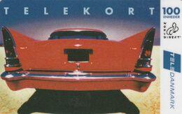 Denmark, DK-REM-WOD-0001, 100 Kr,  TeleDanmark World Direct, Red Car, 2 Scans.  Please Read - Denmark