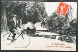 Cpa VÉLO - Verneuil Sur Avre (27-Eure) Je Vous Envoie Mes Amitiés   (Wielersport Cycling Cyclisme) - Verneuil-sur-Avre