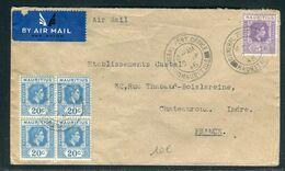 Maurice -  Enveloppe Commerciale De Port Louis Pour La France En 1946 - Prix Fixe !!!!! - Réf A 65 - Mauritius (...-1967)