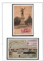 CPA AVEC VIGNETTES EXPO MARITIME BORDEAUX 1907 (1) - Erinnophilie