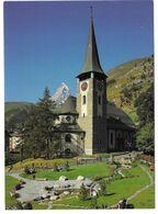Zermatt Kanton Wallis Schweiz, Kirche Und Matterhorn - VS Valais