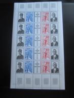 France 1971 No 1698A Feuille Entière ( 5 BANDES ) Neufs** Sans Trace - Feuilles Complètes