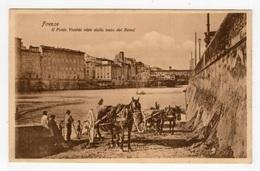 DF / ITALIE / TOSCANE / FLORENCE / FIRENZE / RECOLTE DU SABLE DANS LA RIVIÈRE - RACCOLTA DI SABBIA / ANIMÉE - Firenze (Florence)