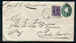 Etats Unis - Entier Postal + Complément De New York Pour L 'Italie En 1896 - Prix Fixe !!!!! - Réf A 70 - ...-1900