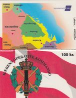 Denmark, DK-TDA-INT-0001A, Haerens Operative Kommando, Army Bosnia, 3 Scans.  Expiry : 31.08.1998 - Denmark