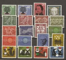 Allemagne Fédérale 1960 - Année Complète MNH - 199/218 - Briefmarken