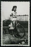 VÉLO Photo (Dimension Cpa) - Femme à La Bicyclette  France 1944  (Wielersport Cycling Cyclisme) - Cycling