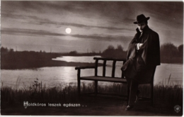 CPA Hongrie THEATRE Star Holdkóros Leszek Egészen... (93919) - Teatro