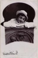 CPA Hongrie THEATRE Star Szigethi B. Carte Photo (93944) - Teatro