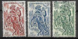 CAMEROUN     -   1946.    Y&T N° 289 à 291 Oblitérés.      Cavalier - Cameroun (1915-1959)