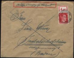 WW II Ostland Dienstpostbrief: Hitler Oberrand Ohne Aufdruck Gebraucht Baranowitschi Weissrussland - Tauberbischofshei - Duitsland