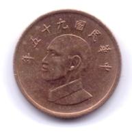 TAIWAN 1986: 1 New Dollar, Y# 551 - Taiwan