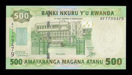 Ruanda Rwanda 500 Francs 2008 Pick 34 SC UNC - Ruanda-Burundi