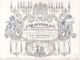 """GENT,GAND""""J.DE SUTTER & CO-POUR LE NOUVEAU GAZ ECONOMIIQUE-ADMINISTRATION J.F.VERPOEST""""LITHO GYSELYNCK-176/130MM - Porzellan"""