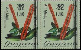 GUYANA 1981 FLOWER Norantea Guianensis Diana Wedding BLACK OVPT:$1.10/$2 PAIR - Königshäuser, Adel