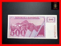 SLOVENIA 500 Tolar 1990  P. 8   *rare*  VF - Slovenië