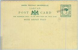 BK0317 - Malaysia LABUAN - POSTAL HISTORY - STATIONERY CARD Overprinted SPECIMEN - Gran Bretagna (vecchie Colonie E Protettorati)