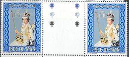 M2871 ✅ Kings Monarchs Queen Elizabeth II Coronation 1978 Isle Of Man UK 1v Set MNH Gutter Pairs ** 0.5 £ - Königshäuser, Adel