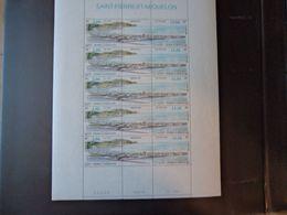 St Pierre Et Miquelon N°681/82 - Feuille De 5 Triptyques - Neufs ** Sans Charnière - TB - Neufs