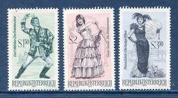Autriche - YT N° 1160 à 1162 - Neuf Sans Charnière - 1970 - 1945-.... 2. Republik