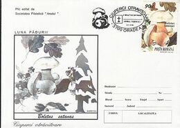 PLANTS, MUSHROOMS, FOREST MONTH, SPECIAL COVER, 1994,ROMANIA - Funghi