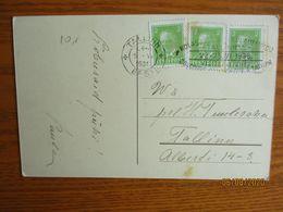 1932  ESTONIA 1938 SONG FESTIVAL ADVERTISEMENT CANCEL   POSTCARD     , O - Estonie