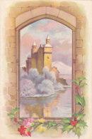 Bonne Année (Carte De Voeux) - Fleurs - Fenêtre - Château Sur L'eau [BA80] - Año Nuevo