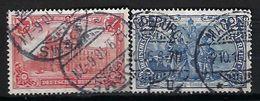 ALLEMAGNE 1900-1930:  Les Y&T 76,78 Obl.CAD - Used Stamps