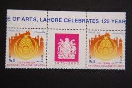 PAKISTAN SG 1120 NATIONAL COLLEGE OF ARTS GUTTER PAIR - Pakistan