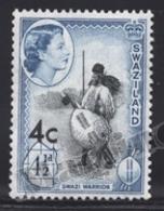 Swaziland 1961 Yvert 72a, Royalty. Queen Elizabeth. Swazi Warrior - MNH - Swaziland (1968-...)