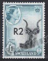 Swaziland 1961 Yvert 78a, Royalty. Queen Elizabeth. Fauna. Kudu - MNH - Swaziland (1968-...)