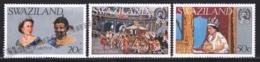 Swaziland 1977 Yvert 267-69, Royalty. Queen Elizabeth Silver Jubilee. King Sobhuza II - MNH - Swaziland (1968-...)