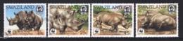 Swaziland 1987 Yvert 525-28, Protected Fauna. Rhino, Rhinoceros - MNH - Swaziland (1968-...)