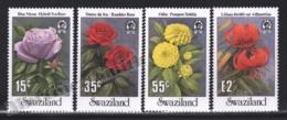 Swaziland 1987 Yvert 529-32, Flora. Garden Flowers. Rose, Dahlia & Lily - MNH - Swaziland (1968-...)