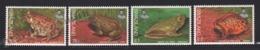 Swaziland 1998 Yvert 674-77, Fauna. Batrachia. Frog, Bullfrog & Toad - MNH - Swaziland (1968-...)