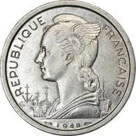 Monnaie, Réunion, 2 Francs, 1948, SUP, Aluminium, KM:8 - Reunión
