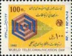MNH STAMPS Iran - World Telecommunication Day  -1982 - Iran