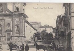 FRASCATI-ROMA-PIAZZA VITTORIO EMANUELE -ANIMATISSIMA-CARTOLINA NON VIAGGIATA-ANNO 1915-1925 - Autres
