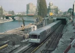 AK -Wien -  U - Bahn - Bei Der Station Schwedenplatz Während Der Bauarbeiten(noch Nicht überdacht) - Metropolitana