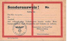 Sonderausweis !   Nr. - Titres De Transport