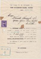 EGYPT, Perfin OB On Document - Égypte