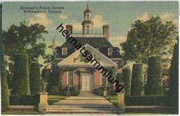 Virginia - Williamsburg - Governor's Palace Garden - Etats-Unis